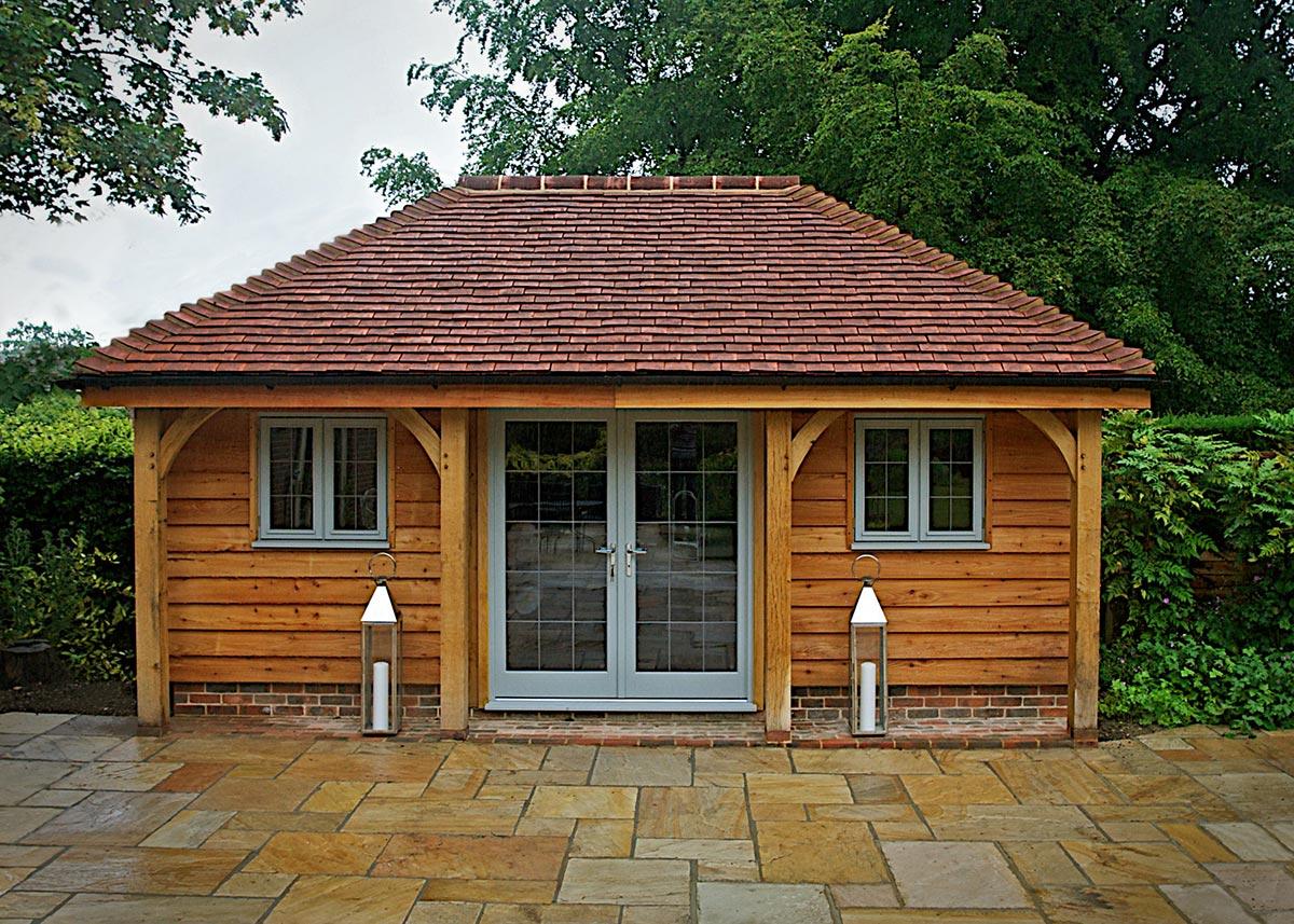 Oak pool house