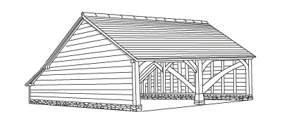 Gable ends with a catslide